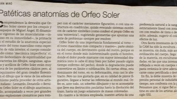 Critica de Adrian Miro-El Nostre